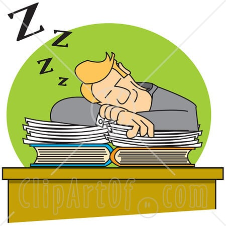 Clip Art Person Sleeping